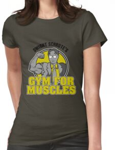 Dwight Schrute's Gym for Muscles Womens Fitted T-Shirt