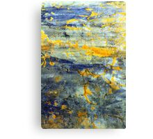 Sun and blue Canvas Print