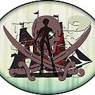 Pirates of the Inbetween - sticker by vampvamp