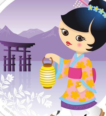 Japanese girl Sticker