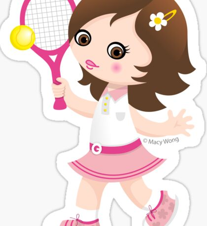 Tennis girl Sticker
