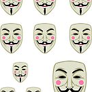 Guy Fawkes Mask Sticker Set by LibertyManiacs
