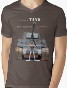 Tank Shirt Mens V-Neck T-Shirt
