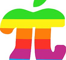 Apple Pi Sticker by Jeff Cheung