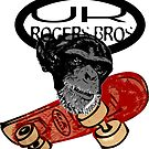 uk skaters team (monkey) by rogers bros by usastickers