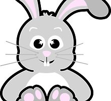 Pink Bunny Sticker by OohLaLiza