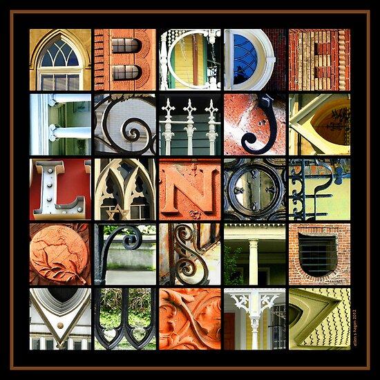 Savannah Alphabet - Square by Ellen  Hagan