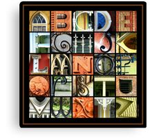 Savannah Alphabet - Square Canvas Print
