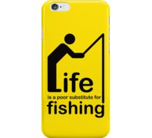 Fishing v Life - White Graphic iPhone Case/Skin