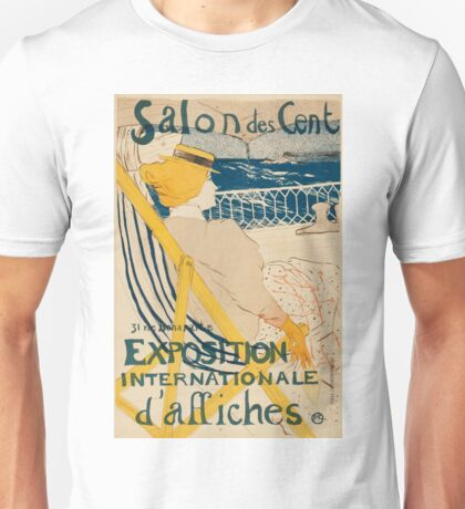 French woman watching the ocean Unisex T-Shirt