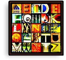 Savannah Alphabet - Bright, square Canvas Print