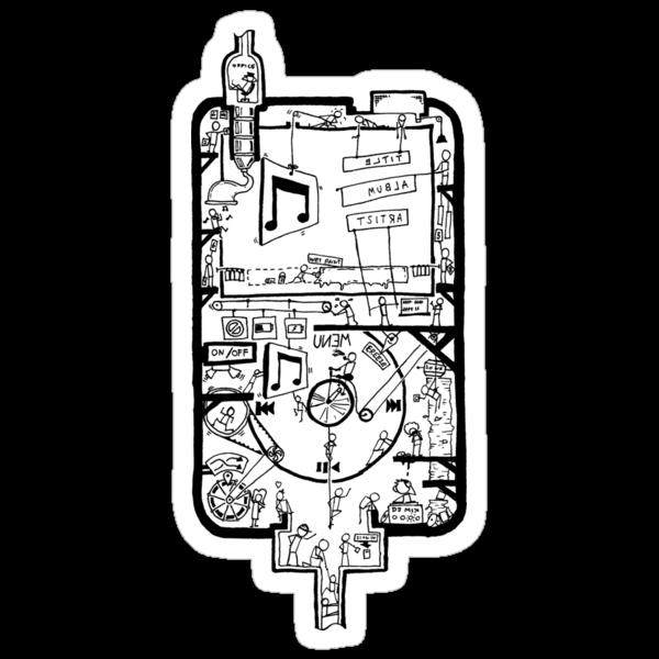 Inside Your iPod Sticker by Jonny Eveson