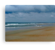 Cloudy Day At The Beach Canvas Print