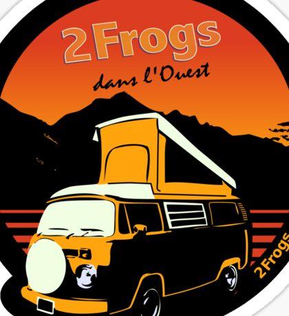 2 Frogs Français NOIR Sticker