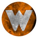 Wrongtown W Logo - Orange Distressed by houseAU