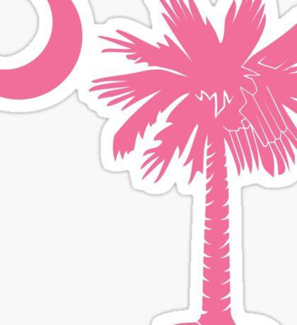Pink Palmetto Moon Sticker