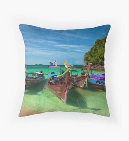 Island Destination Throw Pillow