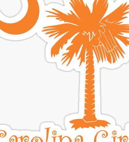 Orange Carolina Girl Palmetto Moon Sticker