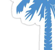 Light Blue Carolina Girl Palmetto Moon Sticker