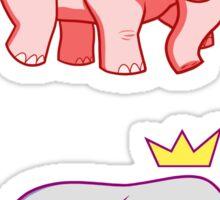 Pink-Blue Elephants Sticker