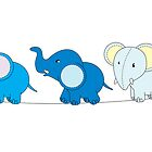 5 Blue Elephants by Lauren Eldridge-Murray