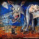 """Even A Smart Ass Needs Help Sometimes"" Sticker by Christopher Shockley - shock schism"