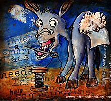 """Even A Smart Ass Needs Help Sometimes"" Sticker by Christopher Shockley - shock schism"