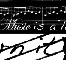 Music is a Language Sticker