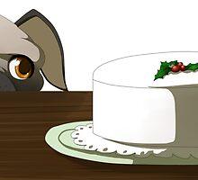 Pug with cake by Tunnelfrog