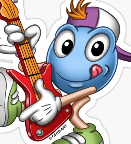 Smiley - Guitar Hero Sticker