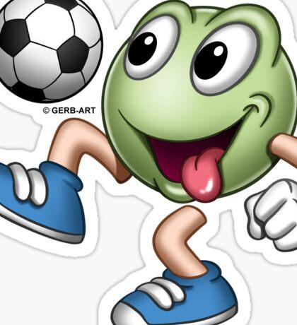 Smiley - Soccerplayer Sticker