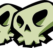 Skulls Sticker by HauntedTemple