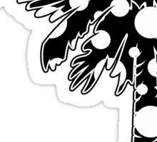 Black Polka Dots Palmetto Moon Sticker