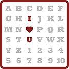 ABC Love - Sticker by LTDesignStudio