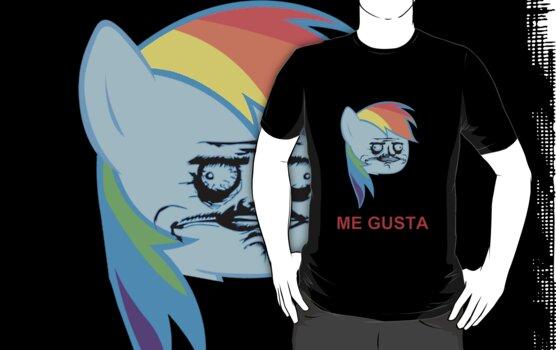 Rainbow Dash ME GUSTA by BlackPenguin