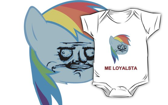 Rainbow Dash ME GUSTA (Loyalsta, Elements of Harmony) by BlackPenguin