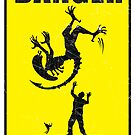 DANGER! Complicated Death Ahead - STICKER by Vincent Carrozza