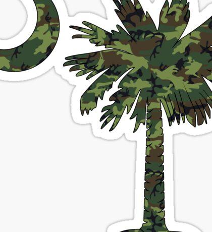 Green Camouflage Palmetto Moon Sticker
