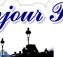 Beautiful architecture Luvoure museum,Effeltower Paris france graphic art Sticker