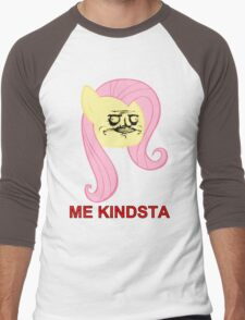Fluttershy ME GUSTA (Kindsta, Elements of Harmony) Men's Baseball ¾ T-Shirt