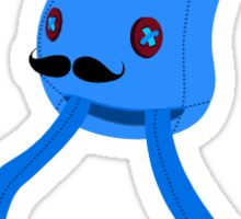 Mustache Squid - Sticker Sticker