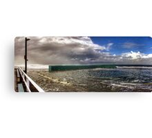 Newcastle Baths - Stormy Weather Canvas Print