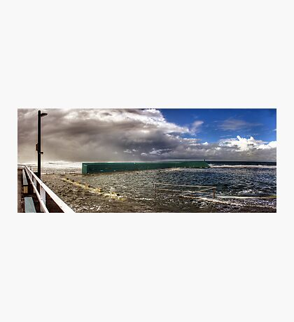 Newcastle Baths - Stormy Weather Photographic Print