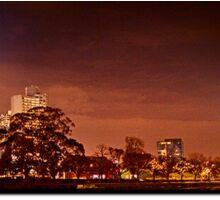 Warm sunset- Melbourne City Sticker