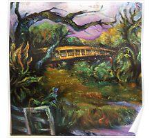 Carmel Valley River and Bridge, Spring Poster