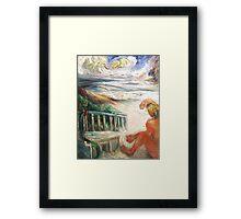 Surfer, Sand, Sea Framed Print