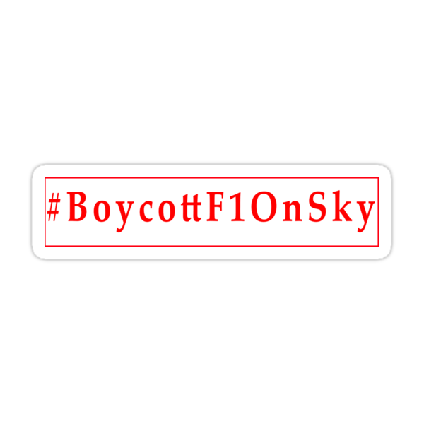#BoycottF1OnSky - Twitter Hashtag to join the Rebellion Sticker by MadTogger
