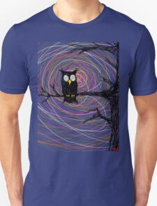 Daymare - Spooky creepy Halloween owl on branch spiral art tia knight  T-Shirt