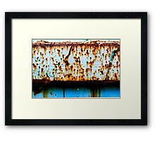 Blue Rust Shadow Line Framed Print