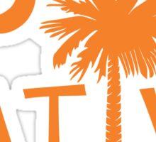 Orange South Carolina Palmetto Moon Native Sticker